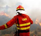 Los bomberos confían en dar por controlado el fuego de Llutxent esta tarde