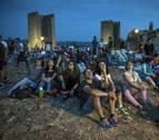 Un millar de personas se reunió en Artajona para observar las Perseidas