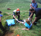 Evacuada al CHN en helicóptero una senderista herida en el monte Urkulu