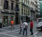 La calle Ciudadela de Pamplona se renueva
