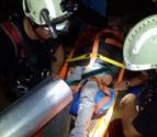 Rescatados siete senderistas franceses, uno de ellos herido en una pierna