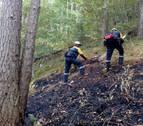 Controlado un incendio en la sierra de Illon, que ha afectado a hojarasca y matorral