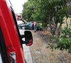 Un herido en un accidente por salida de la vía en Arazuri