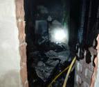 Una niña, intoxicada grave con el humo de un incendio en Andosilla