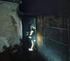 Mueren dos perros en el interior de una bajera de Lodosa por un incendio