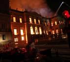 Un incendio destruye el Museo Nacional de Río de Janeiro