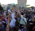 Un cohete con sabor deportivo abre tres días de fiestas en Gorraiz