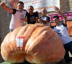 Rubén Mendi vuelve a ganar el Concurso de Calabazas Gigantes de Valtierra