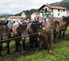 Urdax reúne a 23 ganaderos en el XI concurso caballar de raza Burguete
