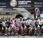 La navarra Maite Ancín y el francés Nolan Beddiaf ganan la Pamplona-Puente la Reina