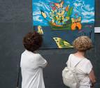 La muestra 'Kushrioseando', de la Fundación Atena, en el Parlamento de Navarra
