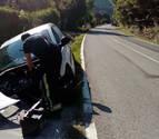 Una persona resulta herida por una salida de vía en Beasoain (Valle de Ollo)