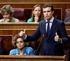 Casado pide a Cs una moción de censura contra Torra y reta a Sánchez a apoyarla