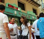 ¿Dos relojes para la cuenta atrás de San Fermín en la calle Estafeta?
