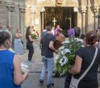 Sangüesa despide a los fallecidos en un funeral cargado de dolor