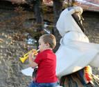 Recorrido de los Gigantes hoy domingo por San Fermín Txikito