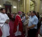 La misa por el martirio de San Fermín acoge a 60 nuevos cofrades