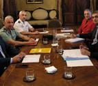 Beaumont y el delegado del Gobierno se reúnen en el Palacio de Navarra