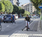 Un mapa de la movilidad ciclista en Pamplona constata un aumento de puntos negros