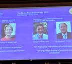 Nobel de Química para Frances Arnold, George Smith y Gregory Winter
