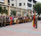 Tudela acoge una jura civil de la bandera