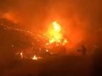 Los vecinos de Mondariz regresan a sus casas tras ser evacuados por un incendio