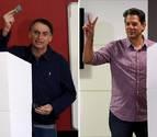 Bolsonaro y Haddad niegan intenciones de llegar al poder en Brasil a la fuerza