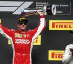 La victoria de Raikkonen en Austin aplaza el 'alirón' de Hamilton