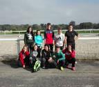 Alumnos de Aoiz participan en un encuentro deportivo transfronterizo en Pau