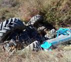 Muere un vecino de Puente la Reina  al volcar su tractor en el campo