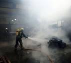 Un incendio causa daños importantes sin heridos en una empresa de Lakuntza
