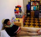 Philomena vive con su hijo Nicolás en una habitación de 15 metros