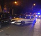 Trata de huir de la Policía Municipal y se estrella contra varios vehículos