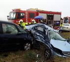 Dos heridos, uno de ellos grave, en un choque entre dos vehículos en Lodosa