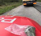 Denunciado un camionero en Lesaka por conducir bajo los efectos del cannabis