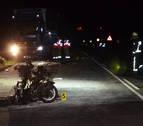 Fallece un motorista en Olóriz al chocar con un camión