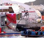 Tres personas rescatadas del agua tras chocar un ferry con una embarcación en Canarias