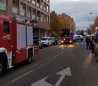 Un incendio sin heridos afecta a una cocina en Echavacoiz Norte