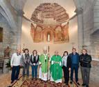 Presentada la reproducción de pinturas murales de la iglesia de San Martín de Artaiz