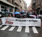 Una manifestación pide en Tudela el desmantelamiento del polígono de Bardenas