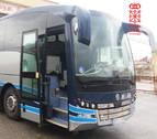 Roba un autobús en Tafalla y choca contra varios coches, uno de policía, tras conducir en dirección contraria