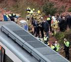 Un pasajero del tren descarrilado: