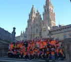 Los jubilados de Tafalla culminaron el Camino de Santiago