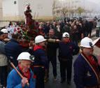 Los mineros de Beriáin reviven su pasado por Santa Bárbara