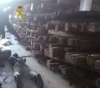 Hallan 1.250 kilos de cocaína ocultos en troncos en Algeciras y Amberes