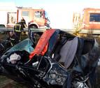 Herido grave un pamplonés de 19 años en un accidente en la AP-15 en Barásoain