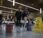 La Estación de Autobuses de Pamplona recibe con goteras