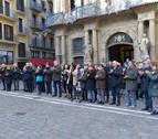 Concentraciones en Pamplona contra la agresión sexista de Barañáin