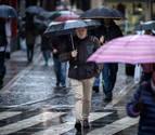La lluvia dará una tregua en Navarra en un lunes y martes  con fuertes vientos