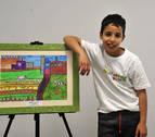Un niño de Murillo el Fruto, premio nacional de dibujo sobre pintura rural
